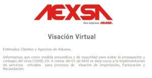 Visación Virtual AEXSA